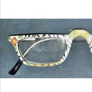Accessories - New Whimsical Readers Glasses Black White Green 3